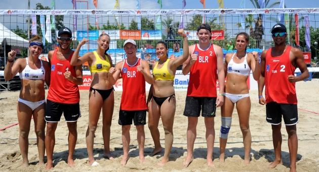 CEV Youth Beach Volleyball Continental Cup'ta Ali Cebeci / Yusuf Özdemir İkinci Oldu