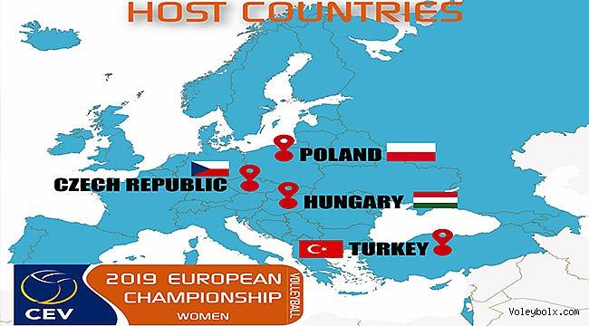 2019 A Bayanlar Avrupa Şampiyonası Finalleri Türkiye'de!..