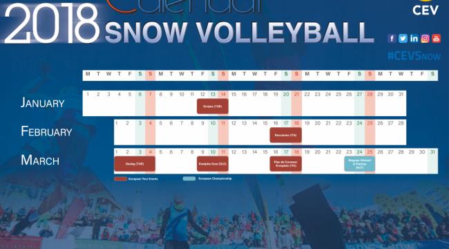 CEV, 2018 Kar Voleybolu Takvimini Açıkladı