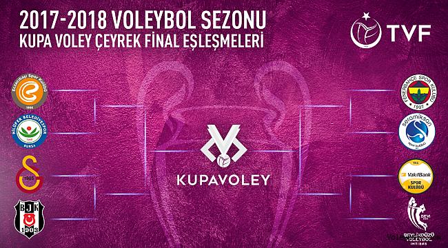 Kupa Voley Bayanlar Kategorisinde Final Etabı Eşleşmeleri Belli Oldu