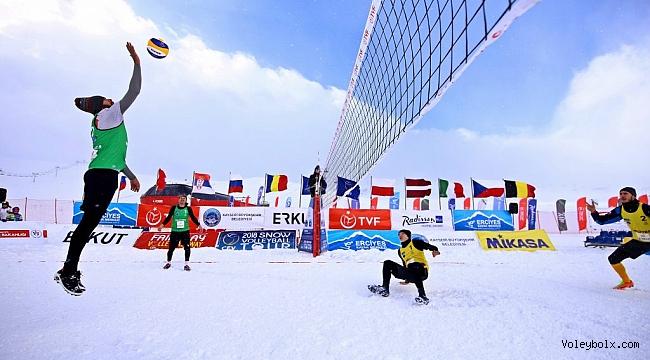 2018 CEV Kar Voleybolu Avrupa Turu Kayseri – Erciyes Etabı Başladı