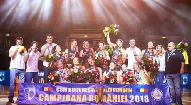 Şampiyon CSM Bükreş kupasını aldı