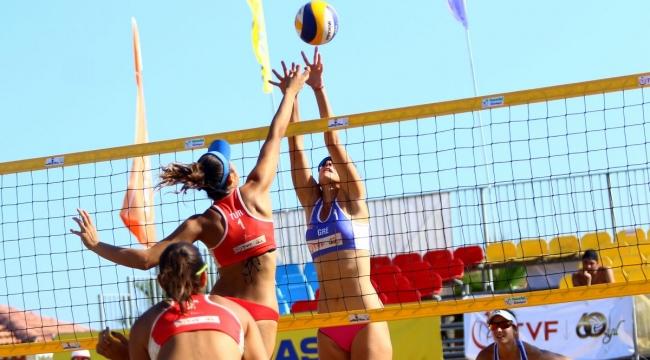 FIVB Plaj Voleybolu Dünya Turu Manavgat Etabı'nda 3. Gün Sona Erdi