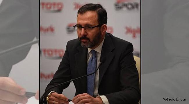 TVF'den yeni Gençlik ve Spor Bakanı'na tebrik