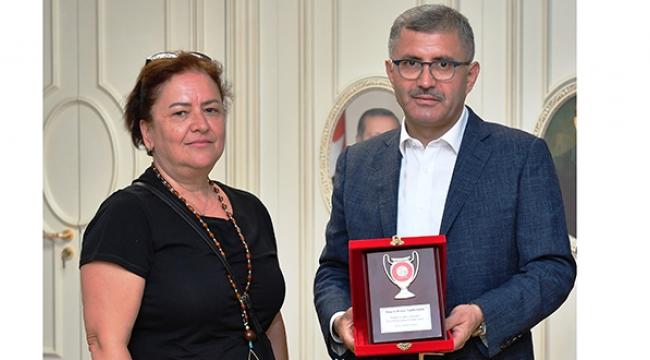 İVK Başkanı, Üsküdar Bld. Başkanı Hilmi Türkmen'i ziyaret etti