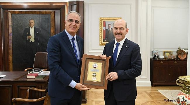 Üstündağ, İçişleri Bakanımız Sayın Süleyman Soylu'yu Ziyaret Etti