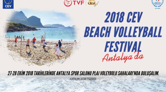 2018 CEV Plaj Voleybolu Festivali Heyecanı 27-28 Ekim'de Antalya'da !