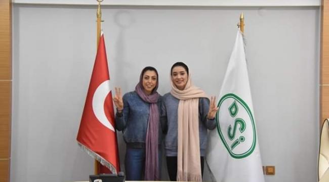 Mona Ashofteh ve Mahsa Saberi Balıkesir DSİ'de ..