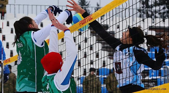 Aleyna-Bahanur-Merve Üçlüsü, Kar Voleybolu Avrupa Turu Moskova Etabı'nı 4. Sırada Tamamladı