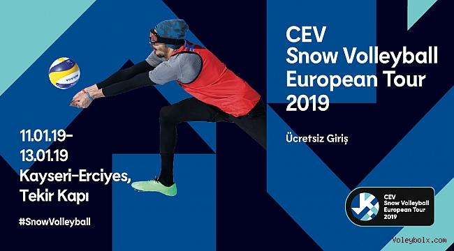 2019 CEV Kar Voleybolu Avrupa Turu Heyecanı Kayseri Erciyes'te Başlıyor