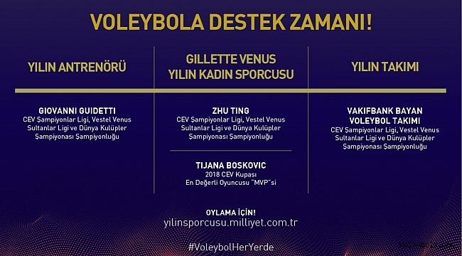 """Milliyet Yılın Sporcusu Ödülleri'nde """"Voleybol Adayları"""" Oylarınızı Bekliyor"""