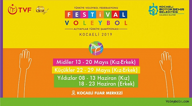 Festival Voleybol Altyapılar Türkiye Şampiyonası'nın Heyecanı Kocaeli'de