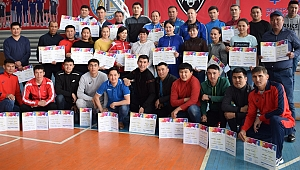 FIVB'nin teknik destek programı, Kazakistan'ın Kızılorda şehrinde devam etti
