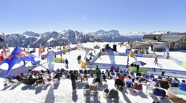Millilerimiz Kar Voleybolu Dünya Turu Kronplatz Etabında Sahaya Çıktı