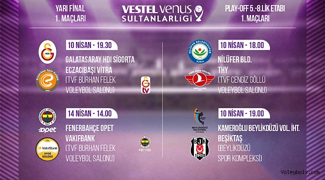 Sultanlar Ligi Yarı Final ve 5/8.'lik Etabı İlk Karşılaşmaları Başlıyor