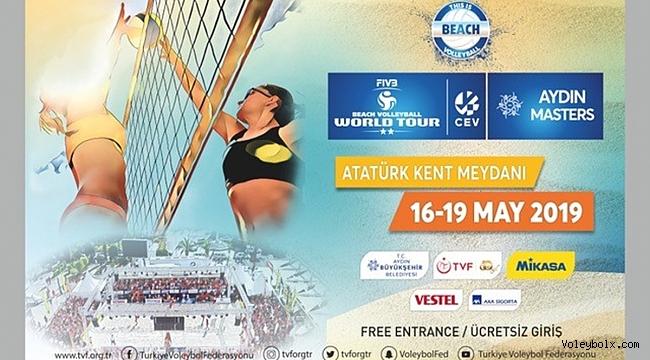 FIVB Plaj Voleybolu Dünya Turu 2 Yıldızlı Aydın Etabı,16 Mayıs'ta Başlıyor