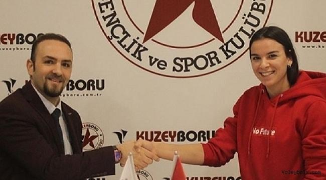 Hazal Şener, Kuzeyboru Spor ile devam dedi..