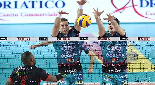 Perugia set vermedi, seride 2-1 öne geçti