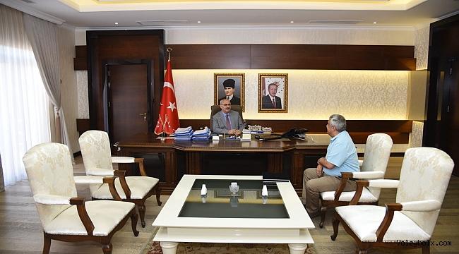 TVF Başkan Vekili Alper Sedat Aslandaş, Aydın Valisi Yavuz Selim Köşger'i Ziyaret Etti