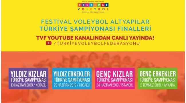 Altyapılar Türkiye Şampiyonası Finalleri, TVF YouTube Kanalında