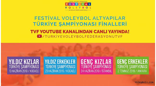 Yıldız Erkekler ve Genç Kızlar Üçüncülük ve Final Karşılaşmaları TVF YouTube Kanalı'nda