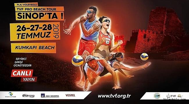 2019 TVF Pro Beach Tour'un 2. Ayağı Sinop'ta Yapılacak