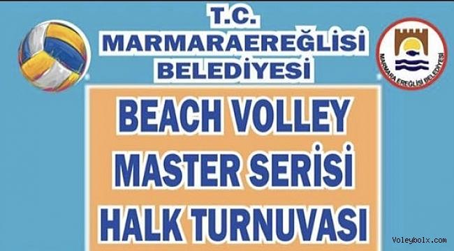 Marmara Ereğlisi'nde Plaj Voleybolu Halk Turnuvası