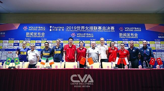 Milletler Ligi Finalleri'nin Basın Toplantısı Nanjing'te Gerçekleştirildi