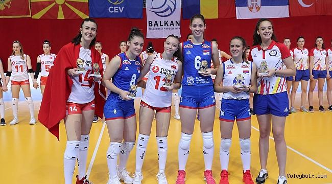 Pelin ve Özge, U16 Balkan Şampiyonası'nda Rüya Takım'da