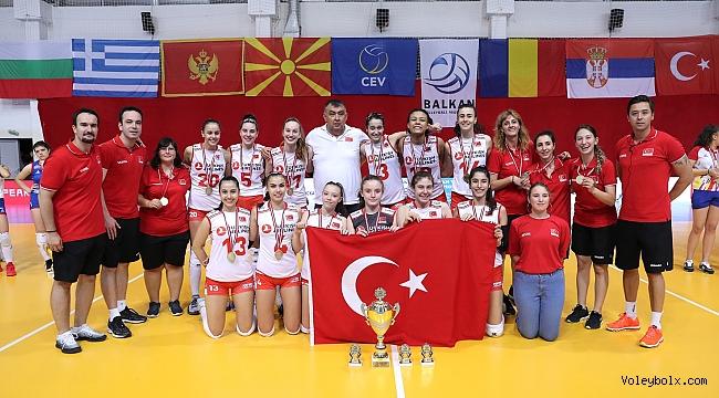 U16 Küçük Kız Milli Takımımız, Balkan Şampiyonu !