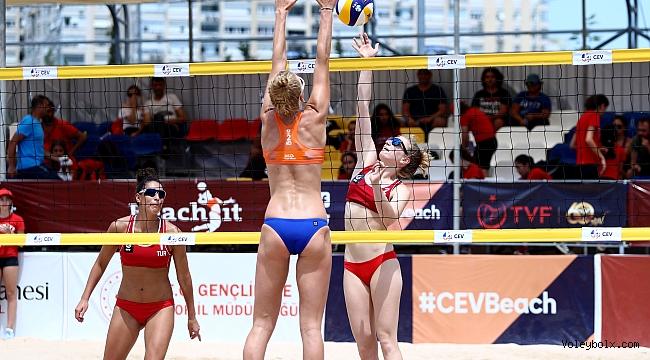 U22 Plaj Voleybolu Avrupa Şampiyonası'nda 2. Gün Sona Erdi