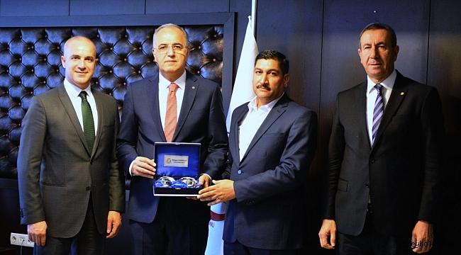 Haliliye Belediyespor Kulübü Başkanı Mehmet Tatlı, TVF Başkanı Üstündağ'ı Ziyaret Etti