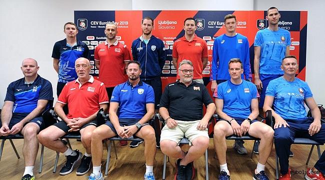 2019 CEV Erkekler Avrupa Şampiyonası Medya Günü Ljubljana'da Yapıldı