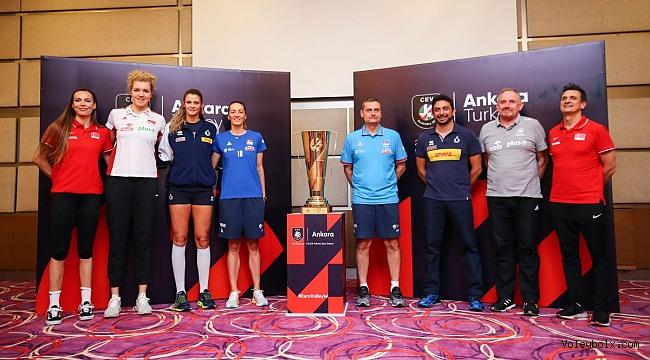 Avrupa Voleybol Şampiyonası Yarı Finalleri'nin Medya Günü Yapıldı