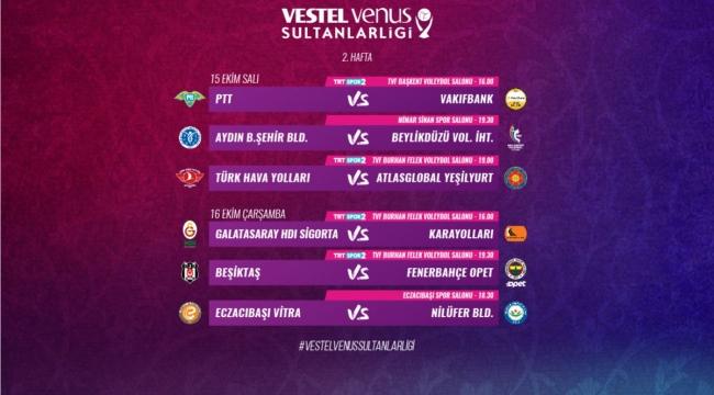 Vestel Venus Sultanlar Ligi'nde 2. Hafta Başlıyor