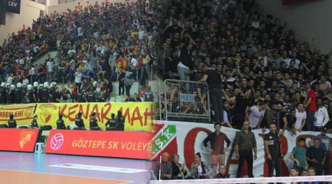 Göztepe-Karşıyaka maçında olaylar nedeniyle tribünler boşaltıldı