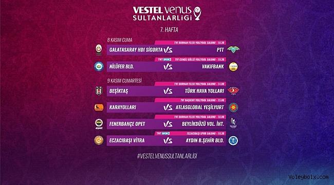 Vestel Venus Sultanlar Ligi'nde 7. Hafta Başlıyor