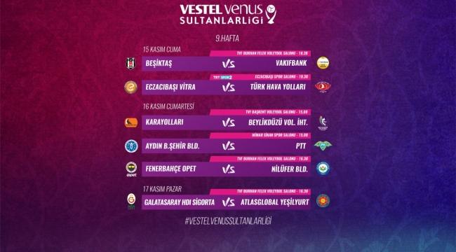 Vestel Venus Sultanlar Ligi'nde 9. Hafta Başlıyor