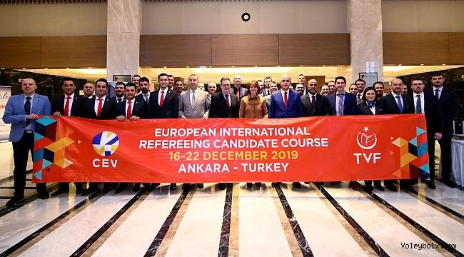İlk Avrupa Uluslararası Aday Hakem Kursu Ankara'da Başladı