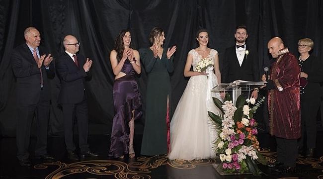 Melisa Kerman ile Okay Yokuşlu evlendi