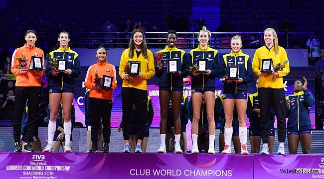 Simge, Kim, Zehra ve Haak, Dünya Kulüpler Şampiyonası Rüya Takımı'nda