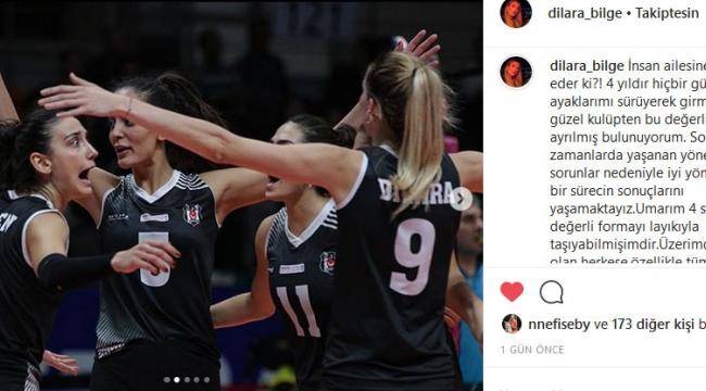 Dilara Bilge'den Beşiktaş'a duygusal veda