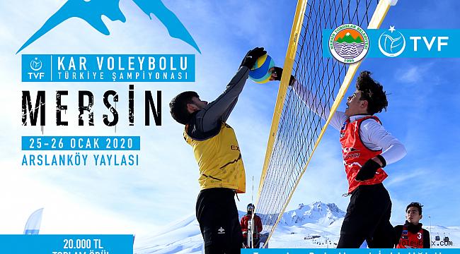 TVF 2020 Kar Voleybolu Türkiye Şampiyonası Mersin Toroslar'da