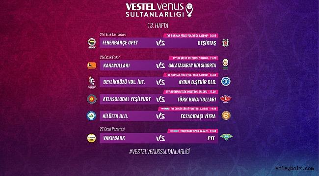 Vestel Venus Sultanlar Ligi'nde 13. Hafta Başlıyor
