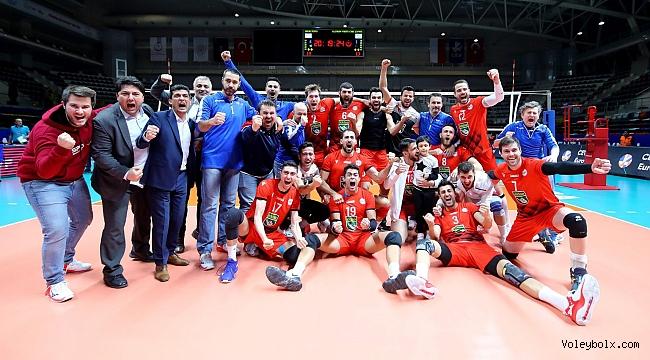 Spor Toto, CEV Challenge Kupası'nda Altın Setle Çeyrek Finalde