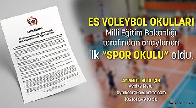 """ES Voleybol Okulları MEB tarafından onaylanan ilk """"Spor Okulu"""" oldu!"""