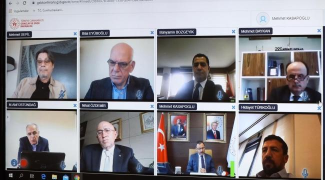 TVF Başkanı Üstündağ, Video Konferans Toplantısına Katıldı