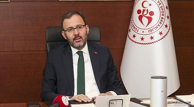 Bakan Kasapoğlu, federasyon başkanlarıyla yarın video konferans aracılığıyla görüşecek