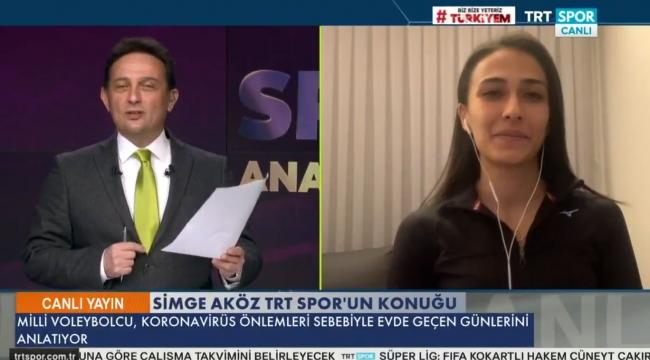 Simge Aköz, TRT SPOR'a konuştu