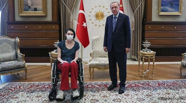 Cumhurbaşkanı Erdoğan, Meltem Çetin'i kabul etti